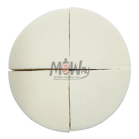Parisa Спонж C-09 латекс мягкий треугольный, нарезка из круга, белые 4шт, фото 2