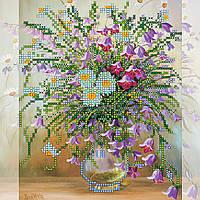Схема для вышивки бисером на натуральном художественном холсте Колокольчики
