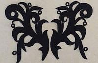 Кружевной лейс Тиара черный, 15*10 см. Цена за 1 шт