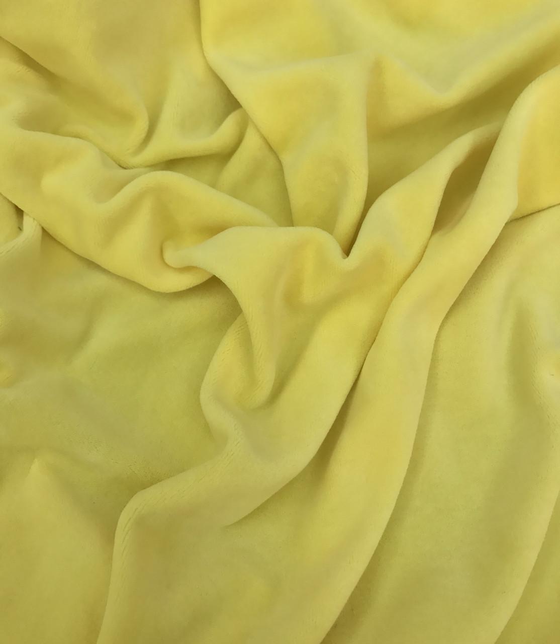 Велюр х/б светло-желтый