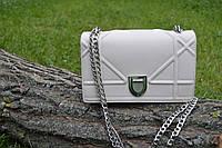 НОВИНКА! Стильная модная женская сумка Dior Diorama на цепочке бежевого цвета