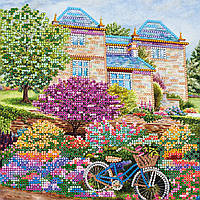 Схема для вышивки бисером на натуральном художественном холсте Загородная прогулка