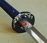 Катана для тамэсигири, тренировки, дамасская сталь, ручаная работа