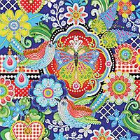 Схема для вышивки бисером на натуральном художественном холсте Щебет птиц