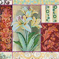 Схема для вышивки бисером на натуральном художественном холсте Королевские цветы