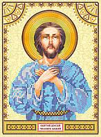 Схема для вышивки иконы бисером на натуральном художественном холсте Святой Алексей