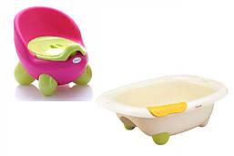 Горшки детские и ванночки для купания