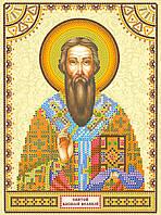 Схема для вышивки иконы бисером на натуральном художественном холсте Святой Василий
