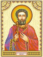 Схема для вышивки иконы бисером на натуральном художественном холсте Святой Виктор