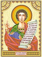 Схема для вышивки иконы бисером на натуральном художественном холсте Святой Роман