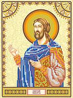 Схема для вышивки иконы бисером на натуральном художественном холсте Святой Никита