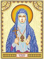 Схема для вышивки иконы бисером на натуральном художественном холсте Святая Елизавета