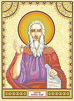 Схема для вышивки иконы бисером на натуральном художественном холсте Святой Илья