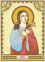 Схема для вышивки иконы бисером на натуральном художественном холсте Святая Вера
