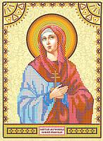 Схема для вышивки иконы бисером на натуральном художественном холсте Святая София