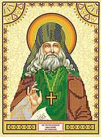 Схема для вышивки иконы бисером на натуральном художественном холсте Святой Анатолий