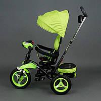 Велосипед 3-х колёсный 6699 Best Trike САЛАТОВЫЙ, надувные колёса, поворотное сидение, фара, ключ зажигания