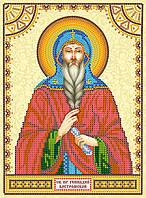 Схема для вышивки иконы бисером на натуральном художественном холсте Святой Геннадий