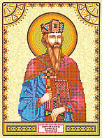 Схема для вышивки иконы бисером на натуральном художественном холсте Святой Вячеслав