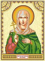 Схема для вышивки иконы бисером на натуральном художественном холсте Святая Антонина