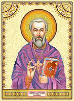 Схема для вышивки иконы бисером на натуральном художественном холсте Святой Леонид
