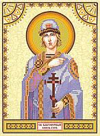 Схема для вышивки иконы бисером на натуральном художественном холсте Святой Глеб