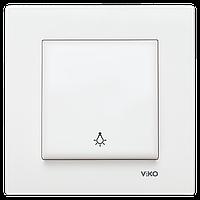 Кнопочный выключатель Viko Karre Крем