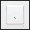 Кнопочный выключатель с подсветкой Viko Karre Крем