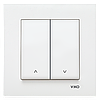 Кнопочный выключатель управления жалюзи 2-х клавишный Viko Karre Крем
