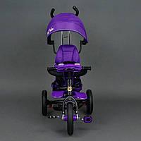 Велосипед 3-х колёсный 6699 Best Trike ФИОЛЕТОВЫЙ, надувные колёса, поворотное сидение, фара, ключ зажигания