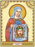 Схема для вышивки иконы бисером на натуральном художественном холсте Святая Вероника