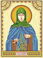 Схема для вышивки иконы бисером на натуральном художественном холсте Святая Евдокия