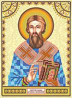 Схема для вышивки иконы бисером на натуральном художественном холсте Святой Савва (Савелий)