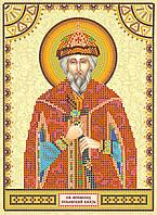 Схема для вышивки иконы бисером на натуральном художественном холсте Святой Всеволод