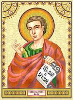 Схема для вышивки иконы бисером на натуральном художественном холсте Святой Фома