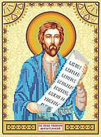Схема для вышивки иконы бисером на натуральном художественном холсте Святой Симеон (Семен)