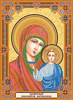 """Схема для вышивки иконы бисером на натуральном художественном холсте Домашний иконостас """"Богородица"""""""