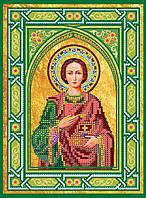 """Схема для вышивки иконы бисером на натуральном художественном холсте Икона """"Святой Пантелеймон"""""""