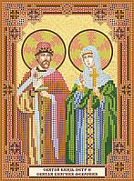 """Схема для вышивки иконы бисером на натуральном художественном холсте """"Святой князь Петр и святая княгиня Февро"""