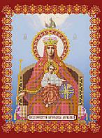 Схема для вышивки иконы бисером на натуральном художественном холсте «Божья матерь Державная»