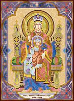 Схема для вышивки иконы бисером на натуральном художественном холсте Богородица «Державная»