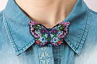 """Набор для вышивки бисером украшения на натуральном художественном холсте """"Бабочка"""""""