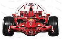 Часы настенные формула 1 акриловые