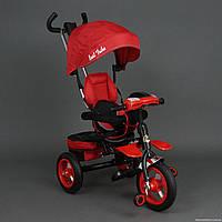 Велосипед 3-х колёсный 6699 Best Trike КРАСНЫЙ, надувные колёса, поворотное сидение, фара, ключ зажигания