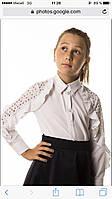 Блузка-рубашка кружевной рукав