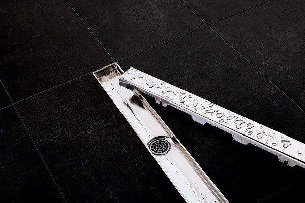 """Скляна панель з нержавіючої сталі """"steel 2"""" для зливу 1000мм (поверхня: полірована)"""