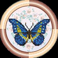 Набор для вышивки бисером на натуральном художественном холсте Бабочка