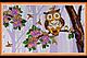 Набор для вышивки бисером на натуральном художественном холсте «Календарь. Совы», фото 3