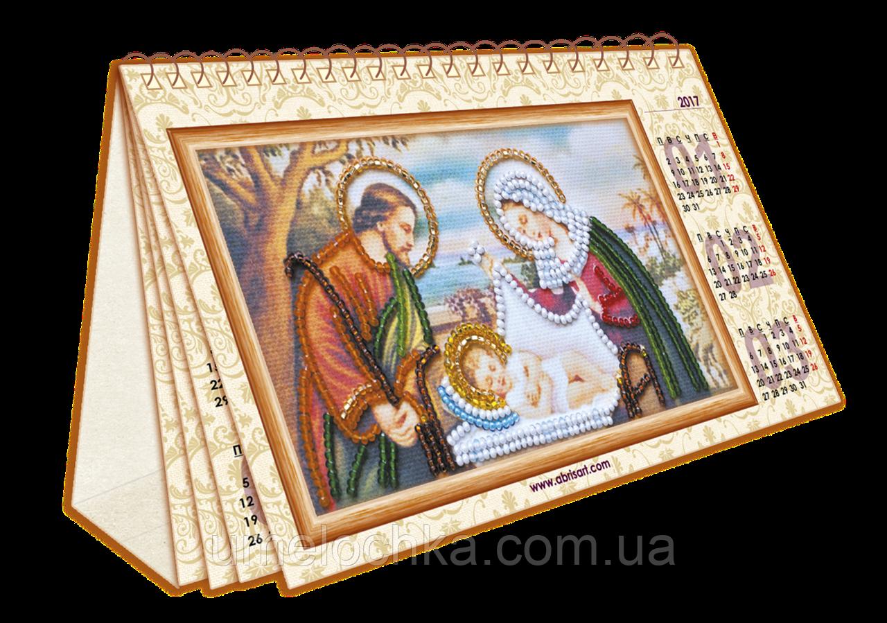 Набор для вышивки бисером на натуральном художественном холсте «Календарь. Библейские сюжеты»