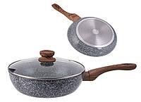 Сковорода с крышкой, глубокая индукция 28см KH1171 KingHoff
